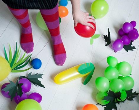 hacer globos forma fruta variedad
