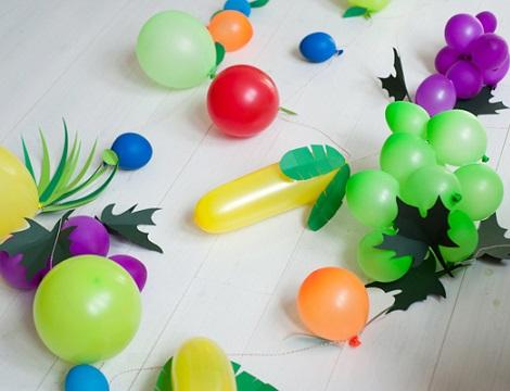 hacer globos forma fruta