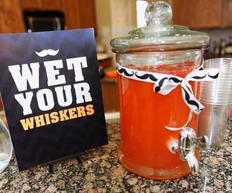 ideas baby shower mustache bebidas