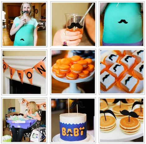 ideas baby shower mustache