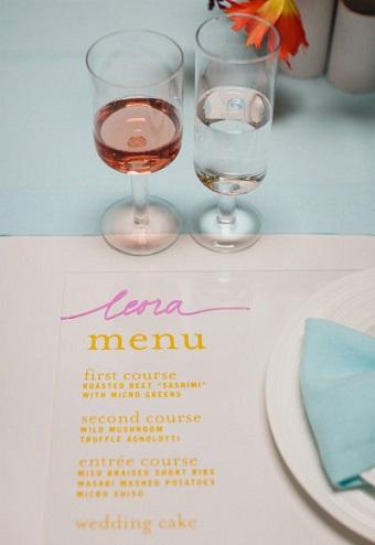 ideas boda en casa menu