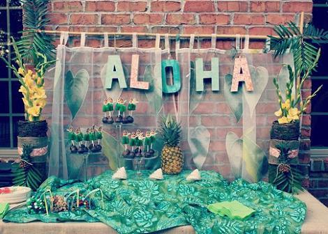 Mesa fiesta hawaiana