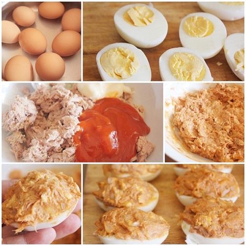 aperitivos originales faciles fiestas huevos rellenos receta