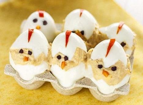aperitivos originales faciles fiestas huevos rellenos