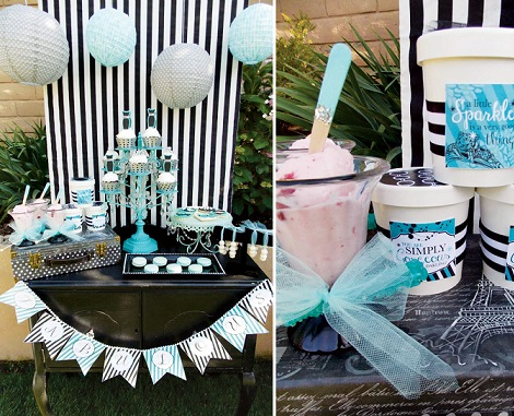 ideas fiesta chicas tiffany piscina helado