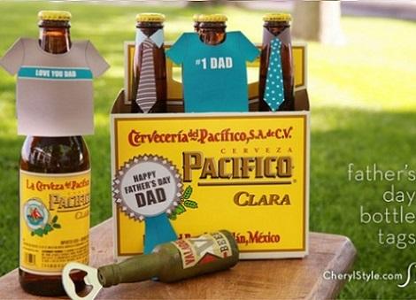 manualidades faciles dia del padre cervezas