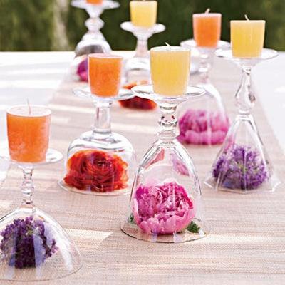 centros de mesa fáciles decorar copas