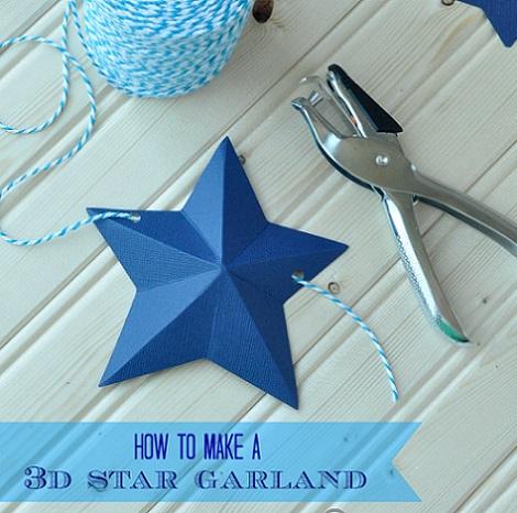 como hacer guirnalda papel estrellas