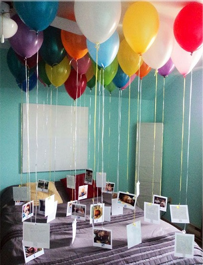 decorar fiesta cumpleaños globos tarjetas