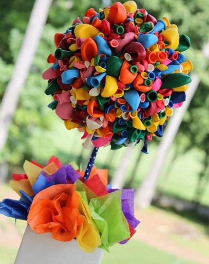 decorar fiesta cumpleaños globos topiari