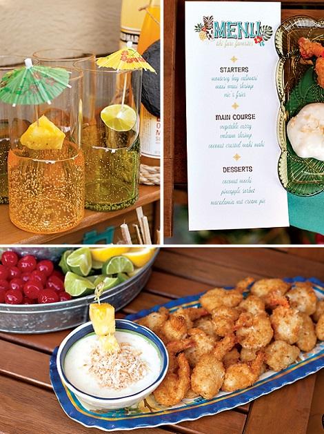 fiesta verano tropical aperitivos