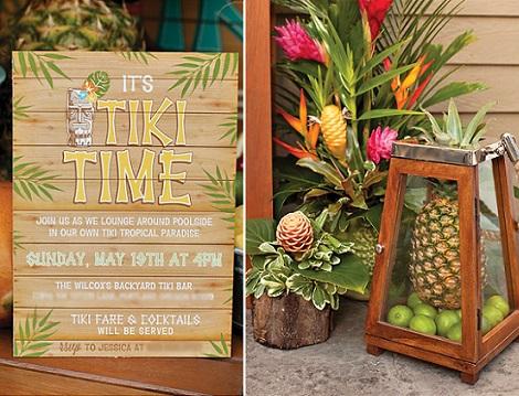 fiesta verano tropical invitaciones