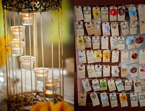 ideas faciles boda casera velas