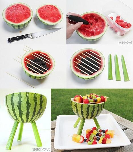 ideas fiestas verano sandía grill