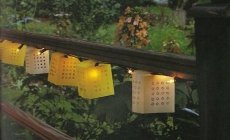 manualidades verano fiestas lampara