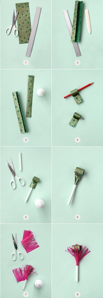 cómo hacer un matasuegras casero proceso