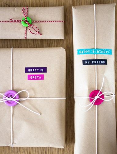 envolver regalos papel