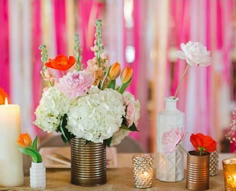 centros de mesa caseros bodas