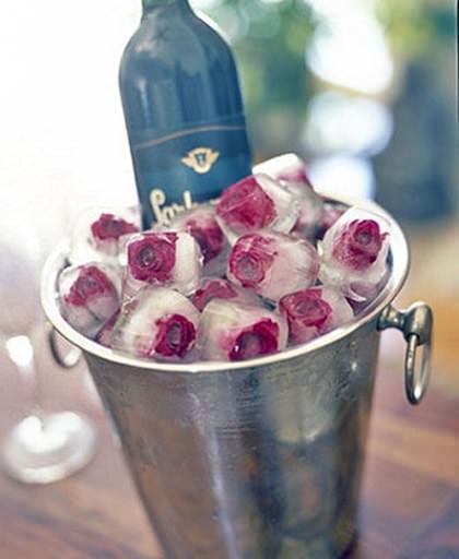 hielos con flores para bodas