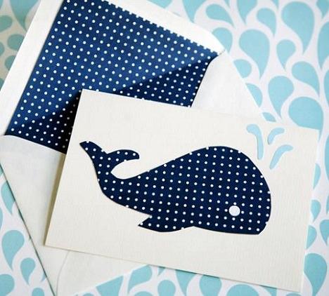 tarjetas de cumpleaños casera de ballena
