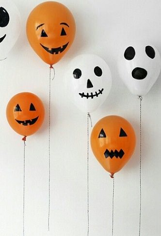 manualidades fáciles halloween globos