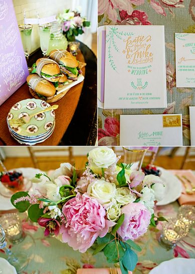 mesa clásica detalles como flores, velas, etc.