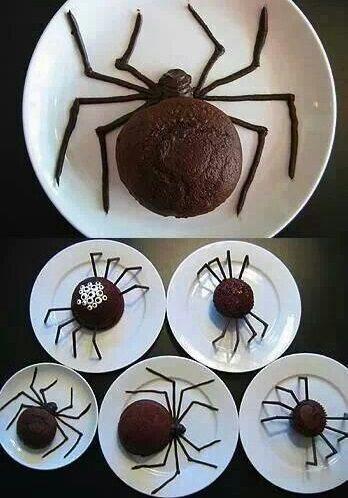 cupcake araña halloween