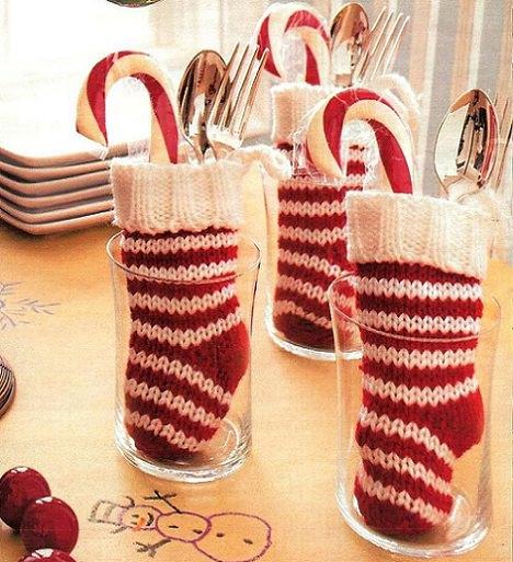 servilletas navidad calcetín