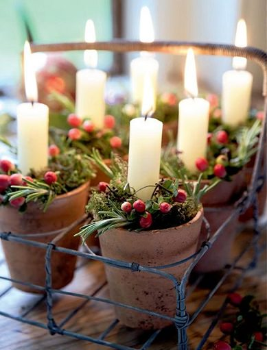 ideas caseras decoración navidad centros de mesa
