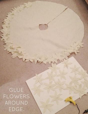 pegar flores a la alfombra