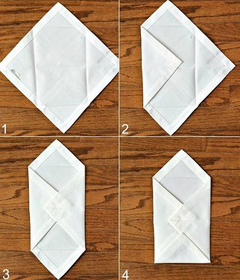 adornar servilleta con formas