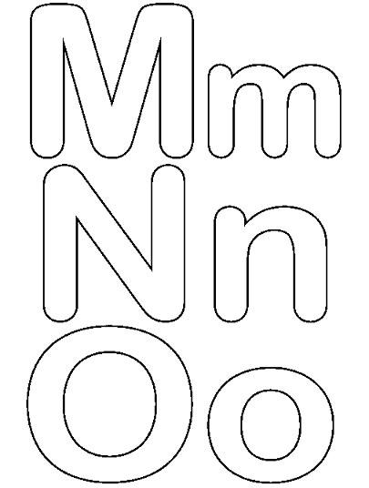 Moldes De Letras Minusculas Para Imprimir Y Recortar